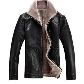 Winter Warm Mens Genuine Leather Sheep Skin Lamb Fur Jacket Coat