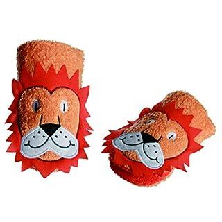 2 in 1: Waschhandschuh + Handpuppe Löwe für Kinder - Handspielpuppe Handpuppen Tier Baby Zootiere Afrika Waschlappen zum Spielen und Waschen