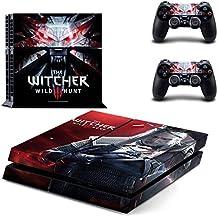 Playstation 4 + 2 Controller Aufkleber Schutzfolie Set - The Witcher /PS4