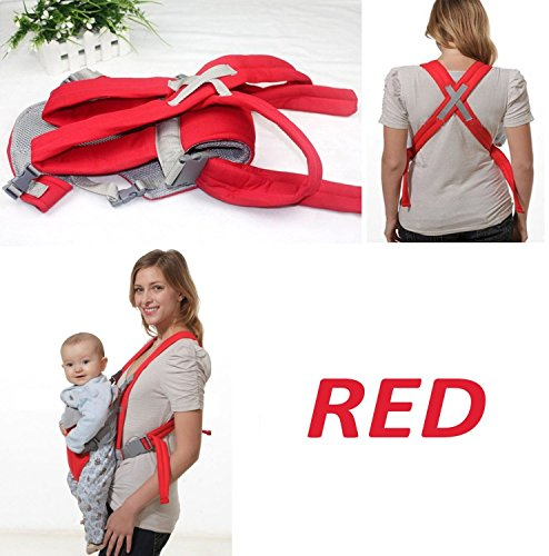 DEALCROX Baby Carrier Bag Seat with Head Support, Multicolour