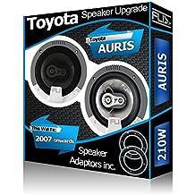 Toyota Auris Altavoces de puerta delantera Fli – Altavoces para coche + Adaptador de altavoz Pods