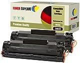 2er-Pack TONER EXPERTE® Premium Toner kompatibel zu CB435A 35A für HP Laserjet P1005, P1006, P1007, P1008, P1009, Canon LBP-3010, LBP-3018, LBP-3050, LBP-3100, LBP-3108, LBP-3150