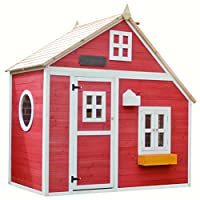 Big Game Hunters Crooked Mansion Pre-Painted Wooden Playhouse - Easy Assembly Children