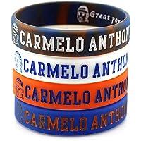 Lorh's store NBA Basketball Carmelo Anthony Porträt Armband Nummer 7 Silikon Inspirierende Wort Sport Schweißbänder 4 Pcs