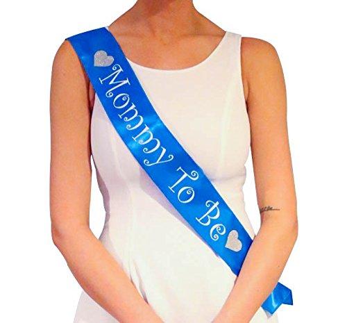 Fascia blu futura mamma Mommy To Be - Decorazioni per Baby Shower maschio