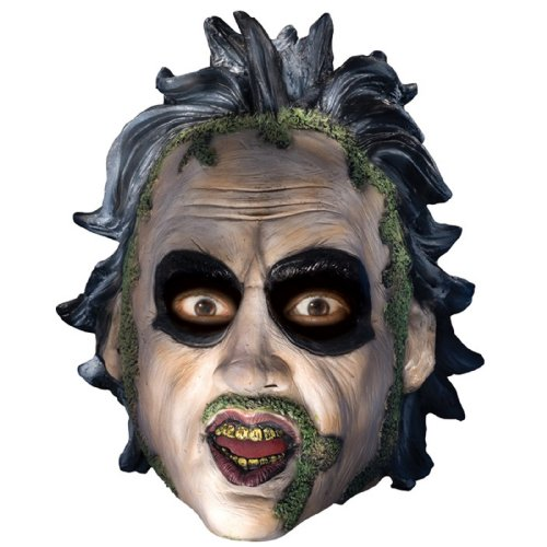Low Cost Beetlejuice Adult 3/4 Vinyl Face Mask with Molded Sculpted Hair