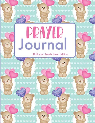 Prayer Journal Balloon Hearts Bear Edition: Guided Sermon Notebook -