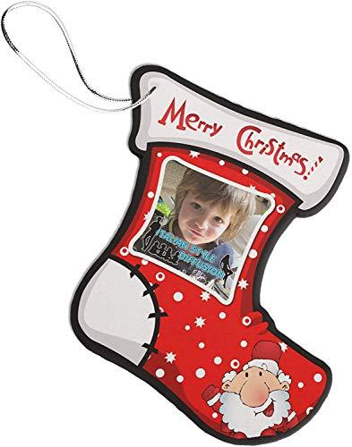 Generico addobbo natalizio pallina natale personalizzata con la tua foto in feltro calza della befana