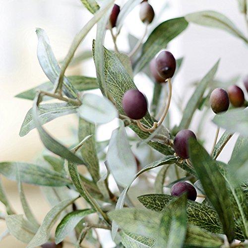 GSYLOL 72Cm Künstliche Blume Green Olive Blatt Obst Pflanzen Zimmerpflanzen Künstliche Blumen Home Hochzeit Dekoration (Olive Goldenen Zweig)