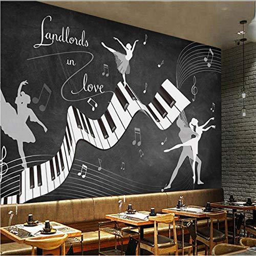 Kostüm Romantische Ballett - Pbbzl Benutzerdefinierte Fototapete Retro Vintage Ballett Kostüm 3D Wandgemälde Wohnzimmer Sofa Tv Hintergrund Wand Wasserdichte Fresko 3D Wandpapier-400X280Cm