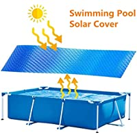 NUEVO Cobertor solar piscina rectangular, Manta Solar Piscina Película aislamiento plástico burbujas UV Protección para armazones o piscinas inflables, jacuzzi hinchable, mantenga el agua caliente