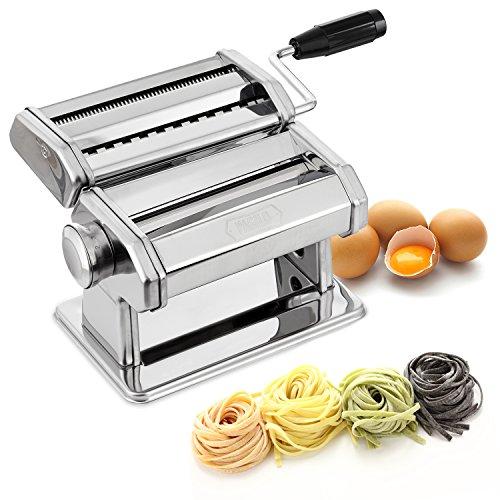 PAGILO Nudelmaschine mit 9 Stufen für Spaghetti, Tagliatelle, Fettuccine und Lasagne - für...