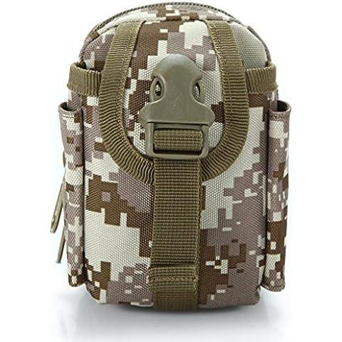 Gli appassionati militare per piccoli accessori borsa, borse da viaggio, campeggio sport all' aperto mini abito tracolla portamonete, Tactical Match Kit Telefono Pacchetto, desert