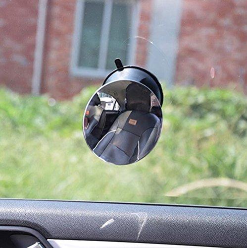 Rétroviseurs extérieurs à l'intérieur de la voiture Rétroviseurs pour enfants Sièges de sécurité Miroirs rétroviseurs pour bébé Miroirs auxiliaires à montants positifs ( Couleur : Noir )