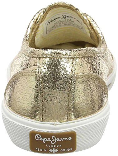 Pepe Jeans Aberlady Metal, Sneakers basses femme Or (Gold)