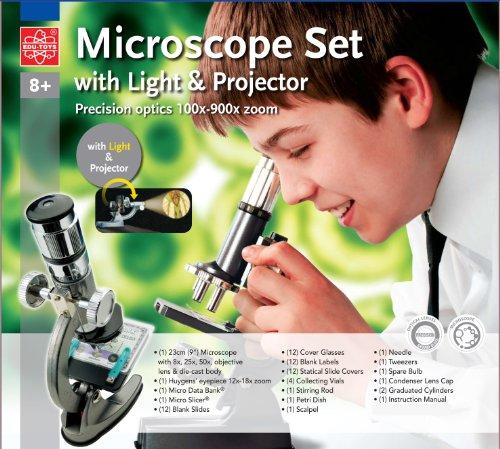 Mikroskop 100x - 900x im Handkoffer Lernmikroskop
