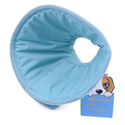 Yunt Smart Tierhalskrause Kragen,Hunde Katzen Haustier Halskrause Schutzkragen(Blue,Medium)