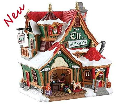Lemax 75291 - The Elf Workshop - Werkstatt der Elfen - Neu 2018 - Santas Wonderland - Beleuchtetes LED Haus mit Animation/Weihnachtshaus - Dekoration/Weihnachtsdeko - Weihnachtswelt/Weihnachtsdorf