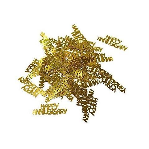 50. Jahrestag Metallisch Glanz Tischkonfetti - Gold Glücklichen Jahrestag 14g