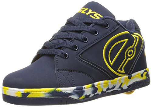 Heelys Boys' Propel 2.0 Sneaker, Navy/Yellow, 8 M US Big Kid