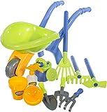 Bieco 06008781 - Gärtnerset für Kinder mit Schubkarre und Zubehör, 11 teilig