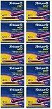 Pelikan Cartouches d'encre 4001 TP/6 en 8 couleurs au choix de Basse, en 5/10 packs de 5 x 6 ou 10 x 6 cartouches d'encre Pelikan violet