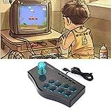 3 In 1 USB Verdrahteter Spiel Controller Arcade Kampf Joystick Stick Gaming Konsole (Farbe: Schwarz)