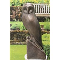 Stone Owl Garden Ornaments Amazon geoffs garden ornaments statues garden sculptures ornate stone small owl garden ornament figurine workwithnaturefo