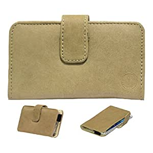 Jo Jo A8 Nillofer Leather Carry Case Cover Pouch Wallet Case For Samsung Galaxy On5 Beige