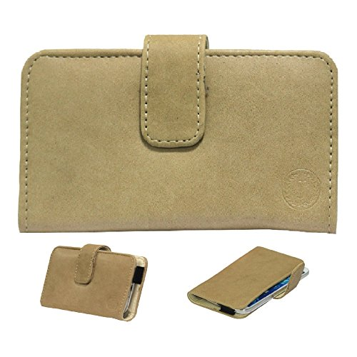 Jo Jo A8 Nillofer Leather Carry Case Cover Pouch Wallet Case For XOLO Q3000 Beige  available at amazon for Rs.295