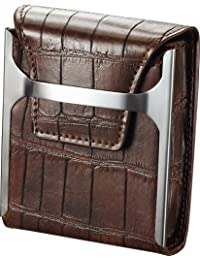 Visol Worthington Brown Leather Cigarette Case