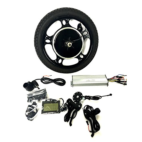 16 CASTED WHEEL 48V1200/36V1000W/24V1000W HUB MOTOR EBIKE BICICLETA ELECTRICA KIT DE CONVERSION + LCD + TIRE THEEBIKEMOTOR (24V1000W  16 CASTED FRONT WHEEL)