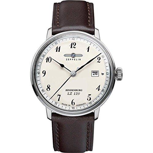 Zeppelin Watches 7046-4 - Orologio da polso uomo, pelle, colore: nero