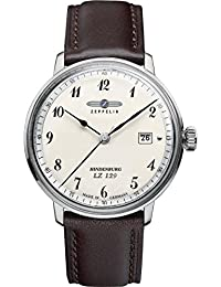 Zeppelin Herren-Armbanduhr Hindenburg Analog Quarz Leder 70464