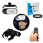 "VR Glasses Google Cardboard with Virtual Gaming Remote Controller; This is the best way to get into virtual reality for cheap with comfort and satisfaction! Support 3D side by side video and VR game, you can search for ""3D split screen"" to find suita..."