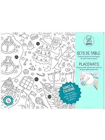 OMY SET206 Games Set de Table à Colorier Papier Multicolore 30 x 40,5 x 30,5 cm