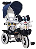 #4: Amardeep and Co Baby Tricycle 86*64*33 cms 1-3 yrs W/Shade and Parental Control (Navy Blue) - Navy-Blue1522MZ