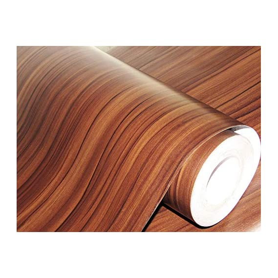 Fusion Graphix Self Adhesive Wood Grain Wallpaper w-04 Waterproof Old Furniture Vinyl Stickers Wooden Door Wardrobe Desktop PVC Wall Papers (12''x75''inch)