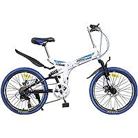 YEARLY Montaña bicicleta plegable, Adultos bicicleta plegable Estudiante Jóvenes Ultra light Portátil Velocidad 7 Shimano