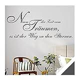 Exklusivpro Wandtattoo Wand-Spruch Nimm dir Zeit zum Träumen… mit SWAROVSKI (zit44 dunkelgrau) 120cm