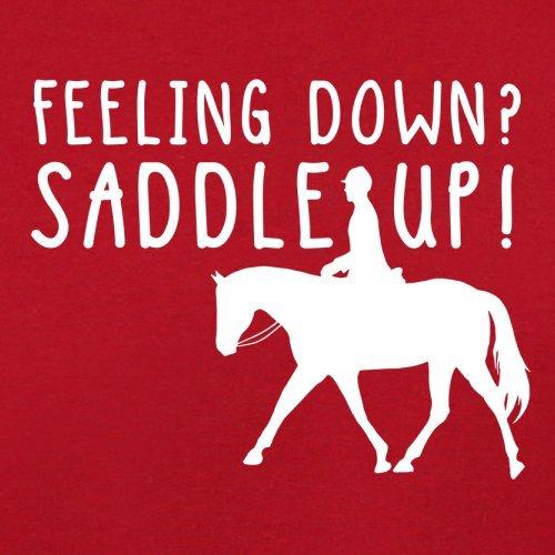 Feeling Down Saddle Up - Damen T-Shirt - 14 Farben Rot