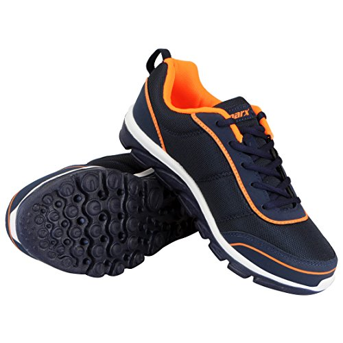 Sparx Men's Navy Orange Sports Running Shoes SM 277-41