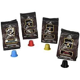 Caffè Carracci, Capsule Compatibili Nespresso, Kit Miscele Assortite – 10 astucci da 10 capsule (totale 100 capsule)