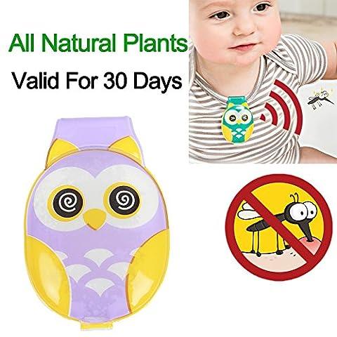 Bébé anti-moustiques Clip, toutes les plantes naturelles Moustiquaire pour Babe Berceaux, poussettes pour bébé et enfants Lit x25–pas de DEET ou Bug Pulvérisations