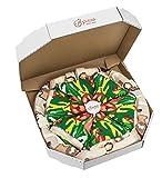Pizza Socks Box - Italiana - 4 paia di CALZINI Divertenti di COTONE, Originali e Unici - REGALO perfetto - Gadget Colorato| per Donna e Uomo, EU 36-40, Prodotto in Europa