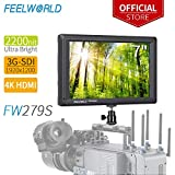 Feelworld FW279S 7 Zoll / 17,8 cm Full HD Focus Video Assist 1920x1200 IPS mit 4K HDMI 3G SDI Input Output 2200nit Hochglanz
