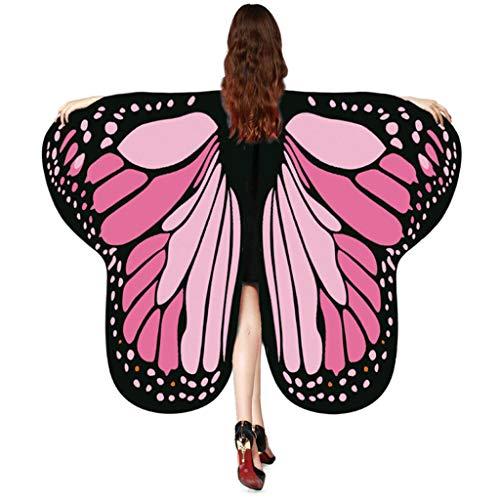 Amphia - Schmetterlingsflügel Schal 175 * 125 cm,Frauen-Schmetterlingsflügel-Schal-Schal-Damen-Nymphen-Elf-Poncho-Kostüm-Zusatz