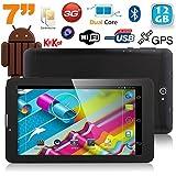 Tablette 3G 7 pouces GPS OTG Android 4.4 Double SIM 12 Go Noir