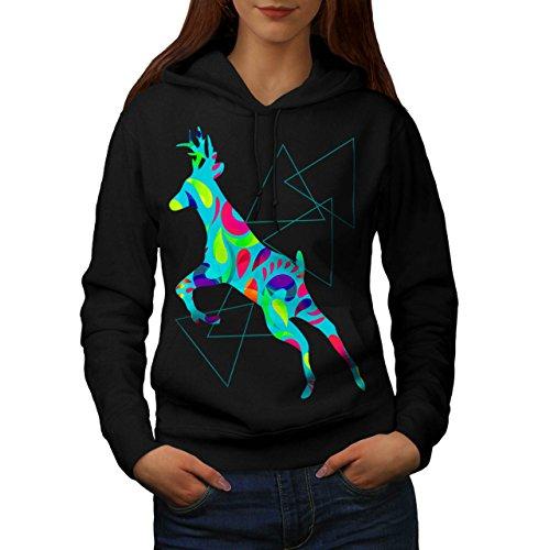 Psychedelic Deer Fashion Women M Kapuzenpullover | Wellcoda (Psychedelic Lady Kostüme)
