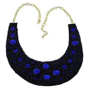Blue Collar Necklace Vintage Choker For Women Costume Jewelry Fashion